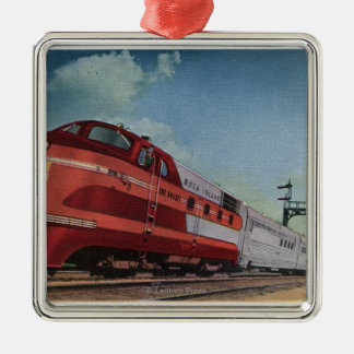 Rock Island RocketStreamlined Train Christmas Ornament