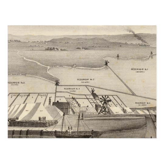 Rock Island Salt Works Postcard