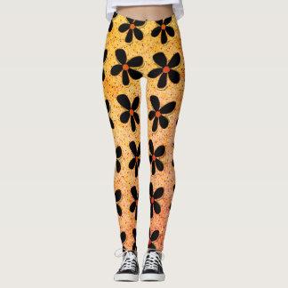 Rock-It-Daisies(c) Gold-Black_XS-XL_Leggings_ Leggings