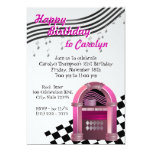 Rock Jukebox Birthday 5x7 Paper Invitation Card