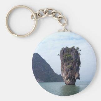 Rock Basic Round Button Keychain