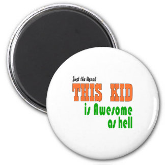 Rock kids clothes 2 inch round magnet