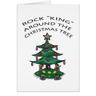 "Rock ""King"" Around the Christmas Tree Card"