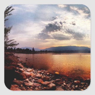 Rock Lakeview Dark Grey Cloud Sticker