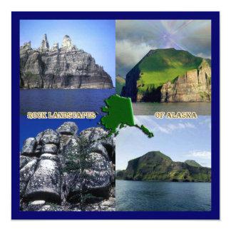 Rock Landscapes of Alaska Collage Invitation
