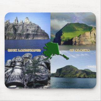 Rock Landscapes of Alaska Collage Mouse Pad