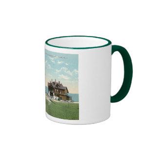 Rock Ledge Pier, Narragansett, RI Vintage Ringer Mug