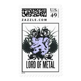 Rock=Life 'Lord Of Metal' Postage Stamp