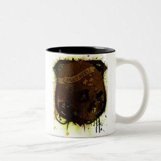 Rock=Life 'Metal Skulll' Extreme Vintage Two-Tone Coffee Mug