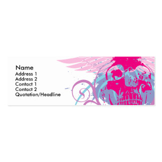 Rock=Life 'Mini Trendskull' Profile Card Business Card Template
