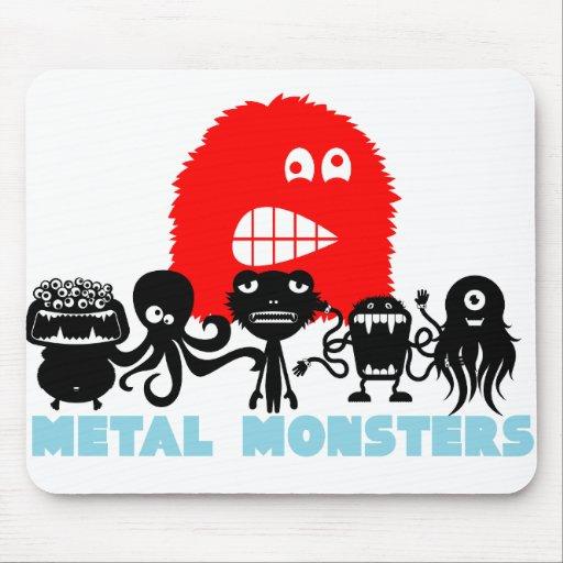 "Rock=Life ""monstruos"" Mousepad del metal Tapete De Ratón"