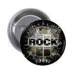 Rock=Life 'Vintage Rock' Badge Buttons