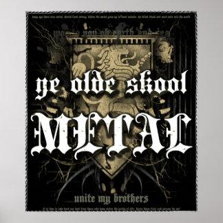 Rock=Life 'Ye Olde Skool Metal' Extreme Vintage Print