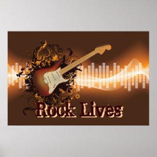 Rock Lives - Rock Music Poster