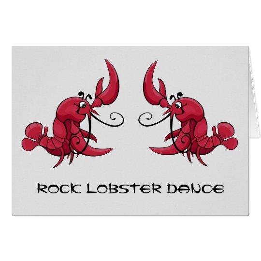 Rock Lobster Dance Card