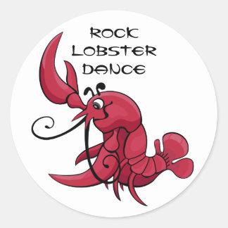 Rock Lobster Dance Classic Round Sticker