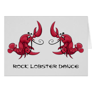 Rock Lobster Dance Greeting Card