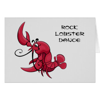 Rock Lobster Dance Greeting Card