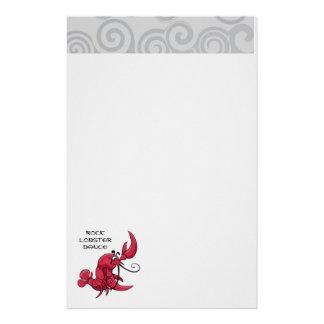 Rock Lobster Dance Stationery Design