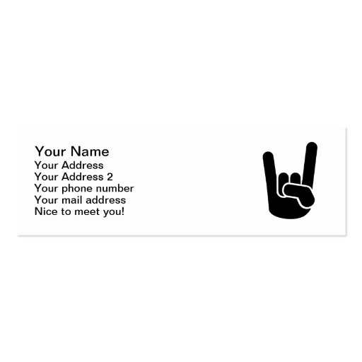 Rock Metal Hand Business Cards