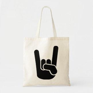 Rock Metal Hand Tote Bag
