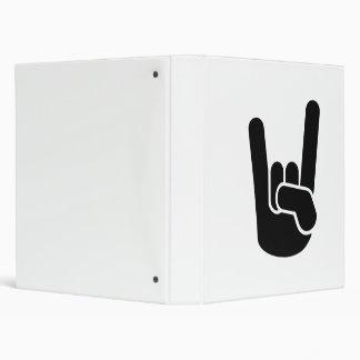 Rock Metal Hand Vinyl Binders
