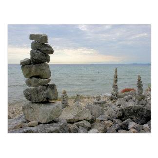 Rock Monuments of Mackinac Island, MI - Postcard