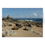 Rock Monuments on Aruban Coast Card