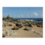 Rock Monuments on Aruban Coast Postcard