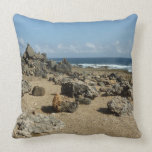 Rock Monuments on Aruban Coast Throw Pillow
