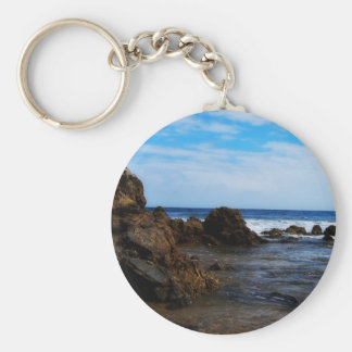 Rock Mounds in the calm Basic Round Button Keychain