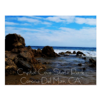 Rock Mounds in the calm, Crystal Cove State Par... Postcard