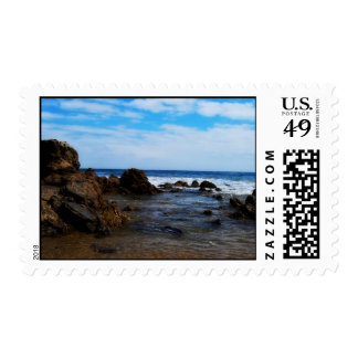 Rock Mounds in the calm Postage