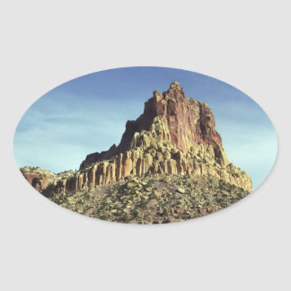 Rock Mountain Summit Oval Sticker