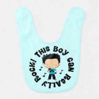 Rock Music Boy Baby Bib