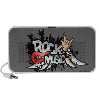 rock music doodle iPhone speaker