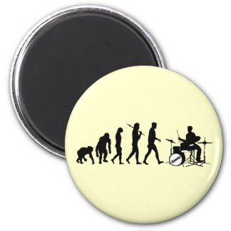 Rock Music Drummer and Jazz Dubstep Drums 2 Inch Round Magnet