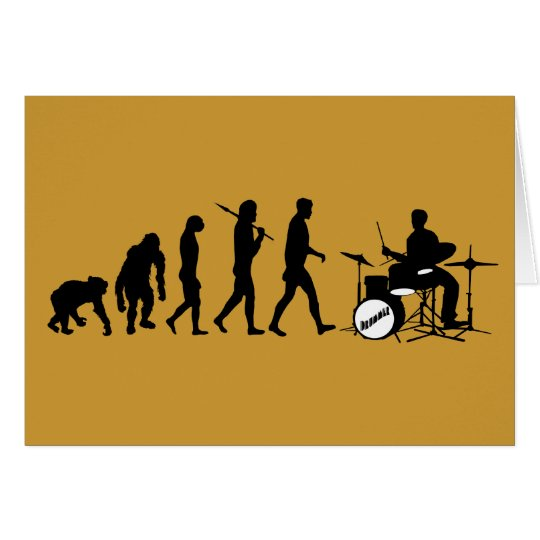 Rock Music Drummer and Jazz Dubstep Drums Card