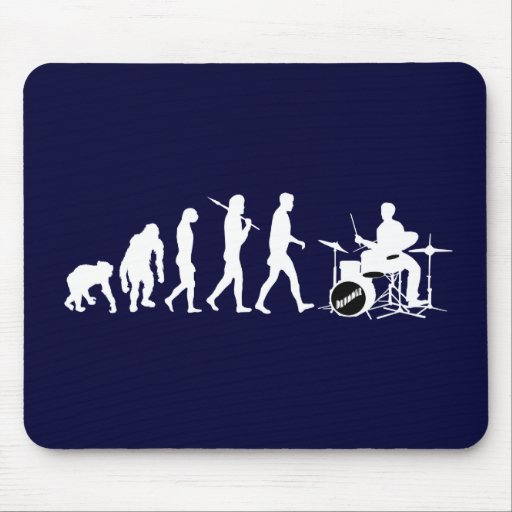 Rock Music Drummer and Jazz Dubstep Drums Mousepads