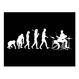 Rock Music Drummer and Jazz Dubstep Drums Post Card