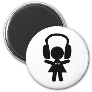 Rock Music Love, I Love Rock 2 Inch Round Magnet