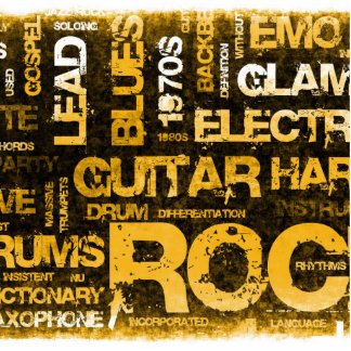 Rock Music Party Invitation as Poster Art Cutout