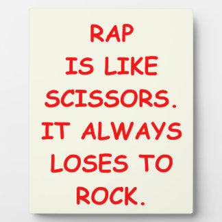 rock music display plaque