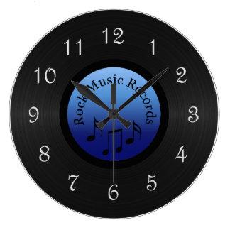 Rock Music Record Round Wall Clock