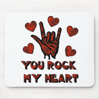 Rock My Heart Mouse Pad