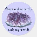 Rock My World Round Sticker