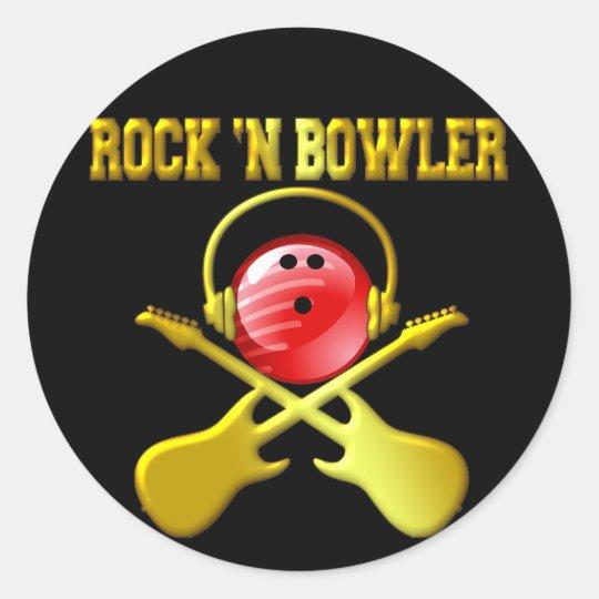 ROCK 'N BOWLER CLASSIC ROUND STICKER