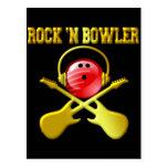 ROCK 'N BOWLER POSTCARD