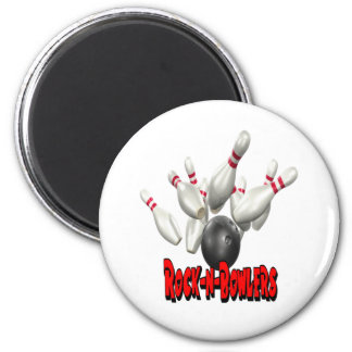 Rock-n-Bowlers Bowling Refrigerator Magnets