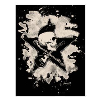rock n rodada Skull - bleached Postales